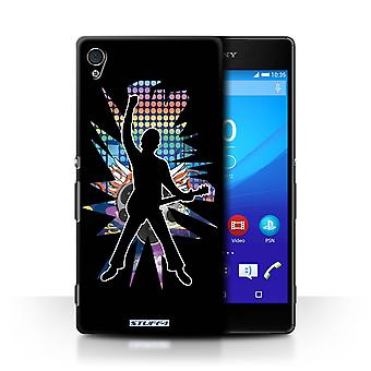 STUFF4 Case/Cover for Sony Xperia Z4v/E6508/Windmill Black/Rock Star Pose