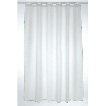 White Plain Polyester Shower Curtain 250 x 180cm