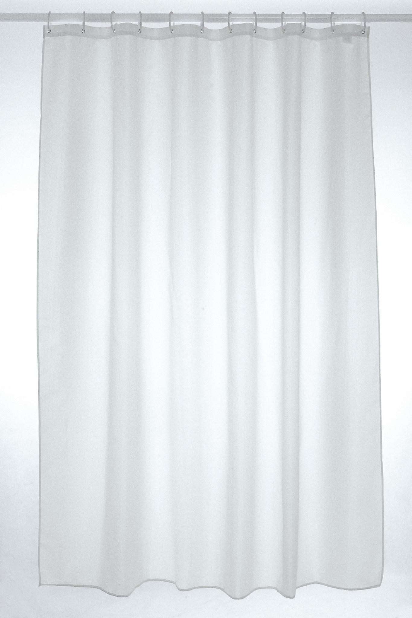 Witte platte Polyester douche gordijn 250 x 180cm