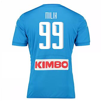 2016-17 Napoli Replica Home Shirt (Milik 99)