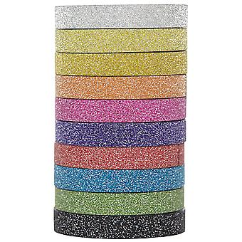 X-Press It Deco Tape 6mmx3m 10 Rolls/Pkg-Glitter DTG610A