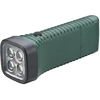 LED Torch AccuLux MultiLED green rechargeable 152 g Green
