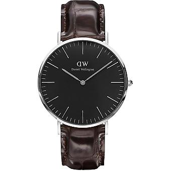 Montre Daniel Wellington York DW00100134 - Montre Cuir Marron Croco Homme