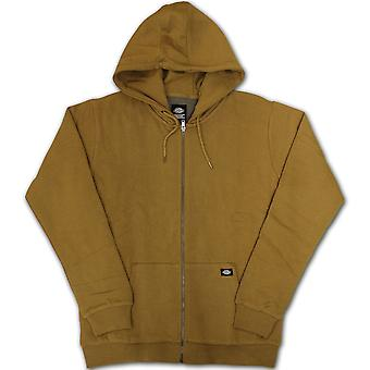 Dickies Kingsley Zip Up Hoodie Brown Duck