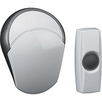 Wireless door chime Complete set backlit, with nameplate Byron BY502E