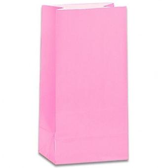 Paper Party bags - Pink - pack of 12