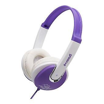 Groov-e barna DJ stil hodetelefoner - Violet/hvit (GV590VW)