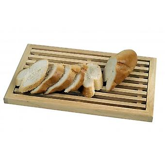 WOODEN CRUMB CATCHER BREAD CUTTING BOARD 40x25cm