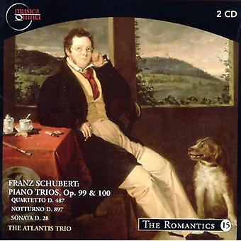 Schubert/Atlantis Trio - Franz Schubert: Klaverer trioer, Op. 99 & 100 [CD] USA import