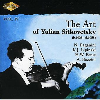 Yulian Sitkovetsky - The Art af Yulian Sitkovetsky, Vol. 4 [CD] USA importerer