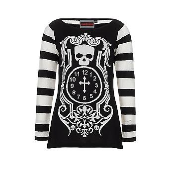 Death Clock  Womens   Long Sleeve Sweater  White