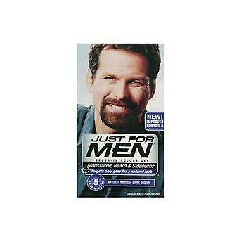 Just For Men Just For Men Brush In Colour Gel Med Dark Brown (M40) Facial Hair Colour