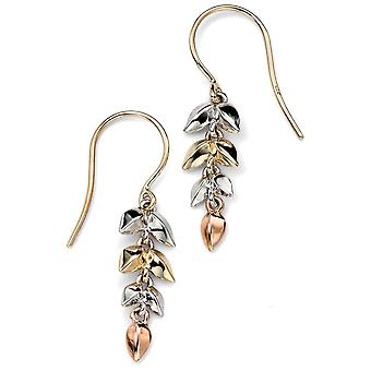 9 CT White Gold And Rose Gold, Gold Flower Earring