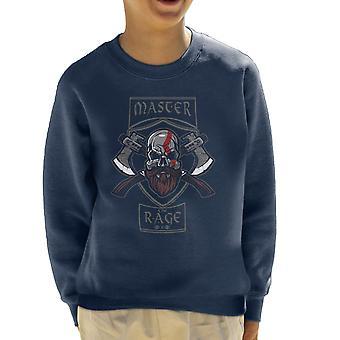 Master The Rage Kratos God Of War Kid's Sweatshirt