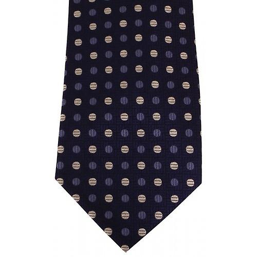 David Van Hagen Spotted Tie - Navy/Blue/White