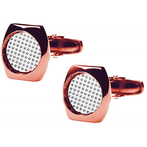 denisonboston Skimm Classic Superdot Cufflinks - Rose Gold