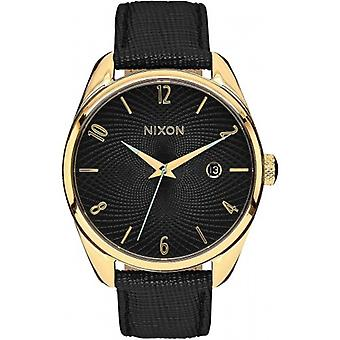 Nixon The Bullet Leather Watch - Gold/Black