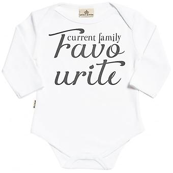 Spoilt Rotten Current Family Favourite Long Sleeve Organic Baby Grow