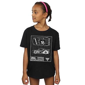Disney Girls Cars Cruz Ramirez Blueprint T-Shirt