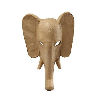 Elephant with Tusks Paper Mache Mask to Decorate | Papier Mache Shapes