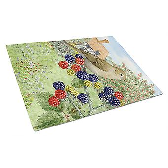 Carolines Treasures  ASA2096LCB Garden Warbler Glass Cutting Board Large