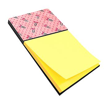 Aquarel paperclips en Polkadots roze notitie houder