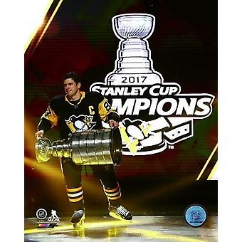 Sidney Crosby 2017 Stanley Cup Banner Raising Ceremony Photo Print