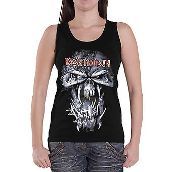 Iron Maiden Vest Final Frontier Eddie glitter print Official Womens skinny fit
