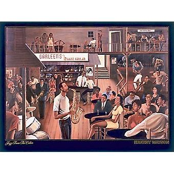 Jazz From The Cellar Poster Print by Ernest Watson (36 x 27)