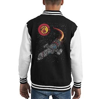 Serenity Firefly A Leaf On The Wind Kid's Varsity Jacket
