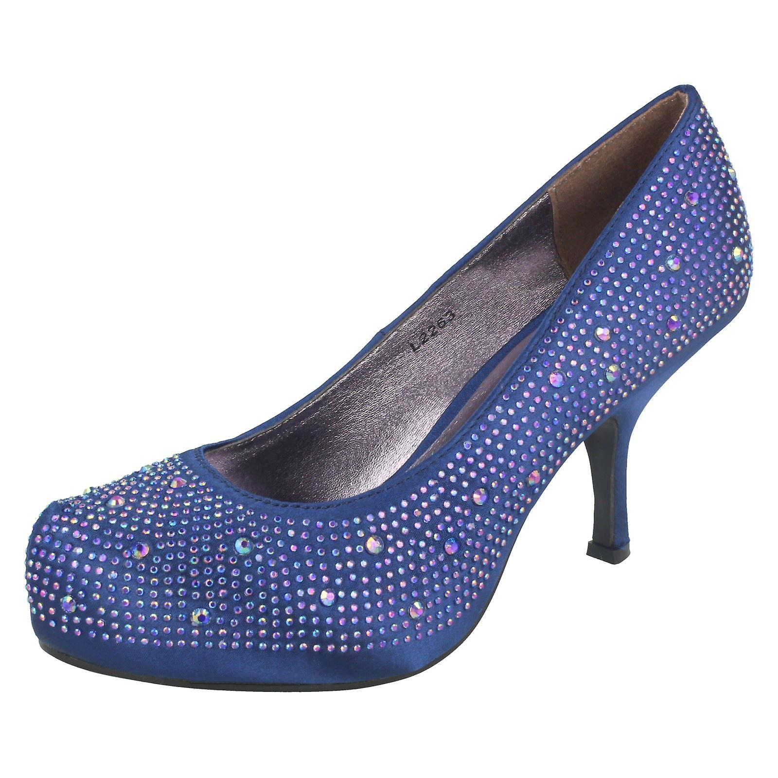 Ladies Anne Satin Michelle Satin Anne Beaded Court Shoes b87089