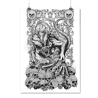 Matte or Glossy Poster with Satan Hell Beast Horror | Wellcoda | *d1253