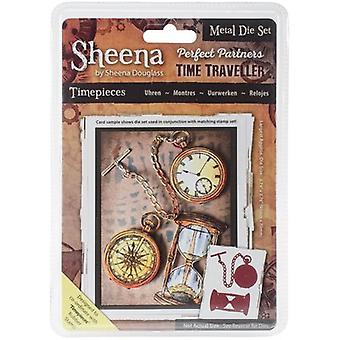 Sheena Douglass Perfect Partners Time Traveller Metal Dies-Timepieces SDPPMD-TPIEC