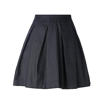 MCQ Alexander McQueen women's 422075RHC064070 blue cotton skirt