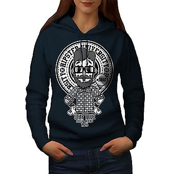 Hippie Swag Cool Women NavyHoodie | Wellcoda