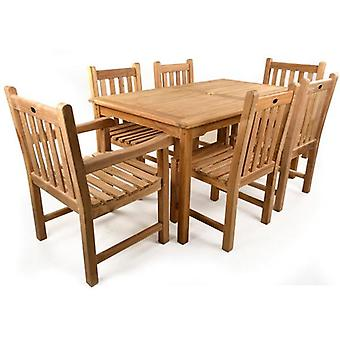 BrackenStyle Great Warwick 6 Seat Teak Table Set