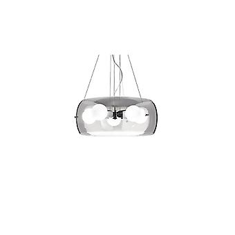 Audi-10 Smokey Grey Pendant - Ideal Lux 103983
