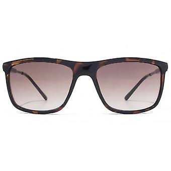 French Connection Metal Temple Plastic Front Sunglasses In Tortoiseshell