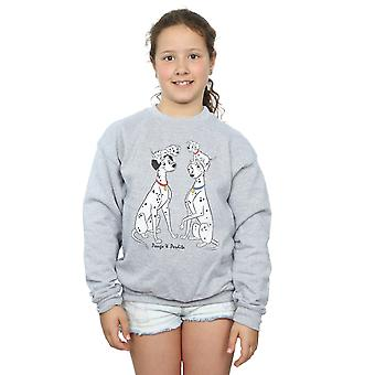 Disney Girls 101 Dalmatians Classic Pongo And Perdita Sweatshirt