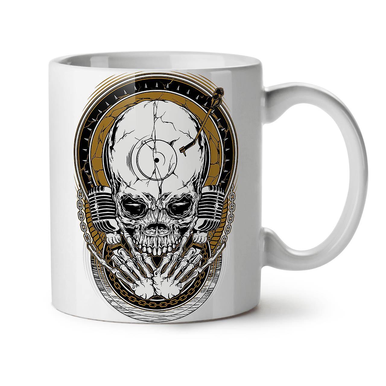 Nouveau 11 Céramique Musique OzWellcoda Café Tasse Mort Thé Blanc Rock Crâne XkuTwOZiP