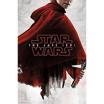 Star Wars The Last Jedi - Red Rey Poster Print