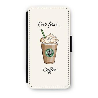 Huawei P9 Flip Case - But first coffee
