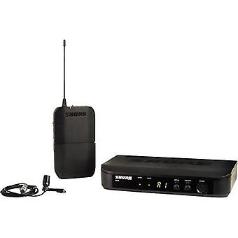 Clip Wireless microphone set Shure BLX14E/CVL-T11 LAVALIER Transfer type:Radio incl. pop filter