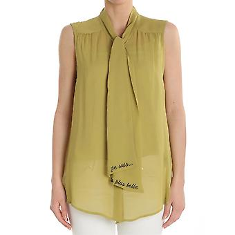 Ottod'ame ladies UMODT86531525 yellow viscose top
