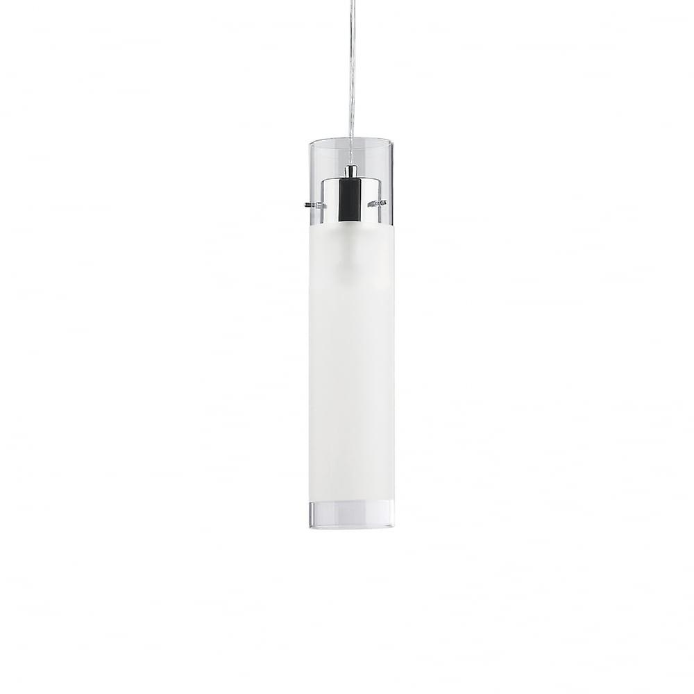 Ideal Lux Flam Single grand Frosted Glass pendentif Tube