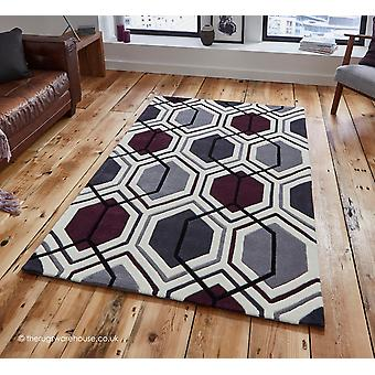Aimo Cream Purple Rug