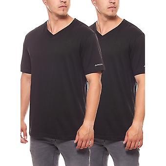 2 pack Kappa skjorte T-Shirt mænds undertrøje Sebbo 2 sort
