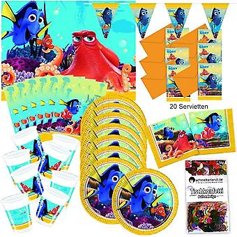 Finding dory party box original 51-teilig birthday decoration Pixar Nemo party package