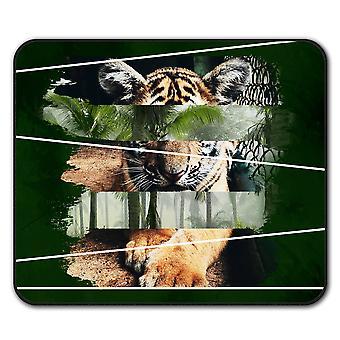 Tigre gato bestia Animal ratón antideslizante alfombra Pad 24 cm x 20 cm | Wellcoda