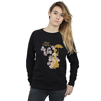 Disney Women's Mary Poppins Floral Silhouette Sweatshirt
